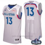 Maglia All Star 2017 Indiana Pacers Paul George #13 Grigio