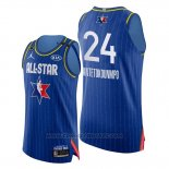 Maglia All Star 2020 Bucks Giannis Antetokounmpo #24 Blu