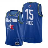 Maglia All Star 2020 Denver Nuggets Nikola Jokic #15 Blu