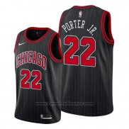 Maglia Chicago Bulls Otto Porter Jr. #22 Statement Edition Nero