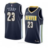 Maglia Denver Nuggets Emanuel Terry #23 Icon 2018 Blu
