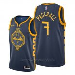 Maglia Golden State Warriors Eric Paschall #7 Citta 2019-20 Blu
