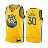 Maglia Golden State Warriors Stephen Curry #30 Citta 2019-20 Giallo