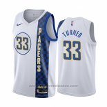 Maglia Indiana Pacers Myles Turner #33 Citta Bianco
