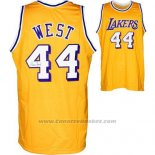 Maglia Los Angeles Lakers Jerry West #44 Retro Giallo