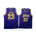 Maglia Los Angeles Lakers Lebron James #23 Viola