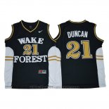 Maglia NCAA Wake Forest Demon Deacons Tim Duncan #21 Blu
