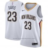 Maglia New Orleans Pelicans Anthony Davis #23 Association 2017-18 Bianco