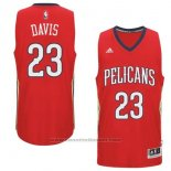 Maglia New Orleans Pelicans Anthony Davis #23 Rosso
