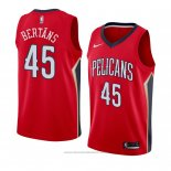 Maglia New Orleans Pelicans Dairis Bertans #45 Statement 2018 Rosso