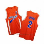 Maglia Uncle Drew Kyrie Irving #2 Harlem Buckets Arancione