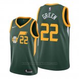 Maglia Utah Jazz Jeff Green #22 Earned Verde
