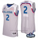 Maglia All Star 2017 Cleveland Cavaliers Kyrie Irving #2 Grigio