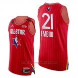 Maglia All Star 2020 Eastern Conference Joel Embiid #21 Rosso