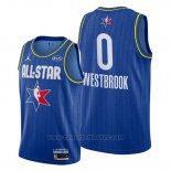 Maglia All Star 2020 Houston Rockets Russell Westbrook #0 Blu