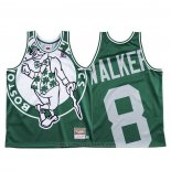 Maglia Boston Celtics Kemba Walker #8 Mitchell & Ness Big Face Verde