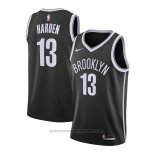 Maglia Brooklyn Nets James Harden #13 Icon 2020-21 Nero