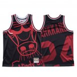 Maglia Chicago Bulls Lauri Markkanen #24 Mitchell & Ness Big Face Nero