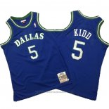 Maglia Dallas Mavericks Jason Kidd #5 Mitchell & Ness Hardwood Classics Blu