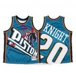 Maglia Detroit Pistons Brandon Knight #23 Mitchell & Ness Big Face Blu