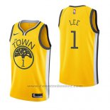 Maglia Golden State Warriors Damion Lee #1 Earned 2018-19 Giallo