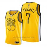 Maglia Golden State Warriors Eric Paschall #7 Earned 2019-20 Giallo