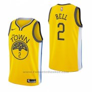 Maglia Golden State Warriors Jordan Bell #2 Earned 2018-19 Giallo