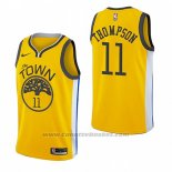 Maglia Golden State Warriors Klay Thompson #11 Earned 2018-19 Giallo