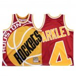 Maglia Houston Rockets Charles Barkley #4 Mitchell & Ness Big Face Rosso