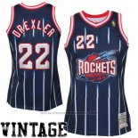 Maglia Houston Rockets Clyde Drexler #22 Retro Blu