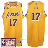 Maglia Los Angeles Lakers Jeremy Lin #17 Retro Giallo