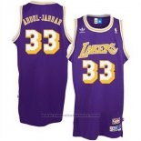 Maglia Los Angeles Lakers Kareem Abdul-Jabbar #33 Retro Viola