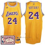 Maglia Los Angeles Lakers Kobe Bryant #24 Retro Giallo