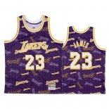 Maglia Los Angeles Lakers Lebron James #23 Hardwood Classics Tear Up Pack Viola