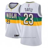 Maglia New Orleans Pelicans Anthony Davis #23 Citta 2018-19 Bianco