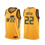 Maglia Utah Jazz Jeff Green #22 Statement Giallo
