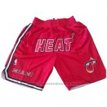 Pantaloncini Miami Heat Just Don Rosso
