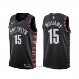 Maglia Brooklyn Nets Alan Williams #15 Citta Nero