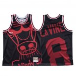Maglia Chicago Bulls Zach Lavine #8 Mitchell & Ness Big Face Nero