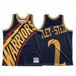 Maglia Golden State Warriors Willie Cauley Stein #2 Mitchell & Ness Big Face Blu