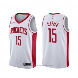 Maglia Houston Rockets Clint Capela #15 Association Bianco