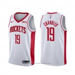 Maglia Houston Rockets Tyson Chandler #19 Association Bianco