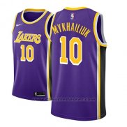 Maglia Los Angeles Lakers Sviatoslav Mykhailiuk #10 Statement 2018-19 Viola