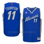 Maglia Natale 2015 Golden State Warriors Klay Thompson #11 Blu
