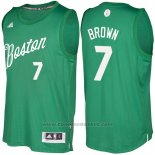 Maglia Natale 2016 Boston Celtics Jaylen Brown #7 Veder