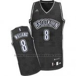 Maglia Ritmo Moda Brooklyn Nets Deron Williams #8 Nero