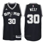 Maglia San Antonio Spurs David West #30 Nero