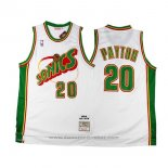 Maglia Seattle SuperSonics Gary Payton #20 Historic Retro Bianco