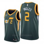 Maglia Utah Jazz Joe Ingles #2 Earned Edition Verde