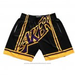Pantaloncini Los Angeles Lakers Mitchell & Ness Big Face Nero